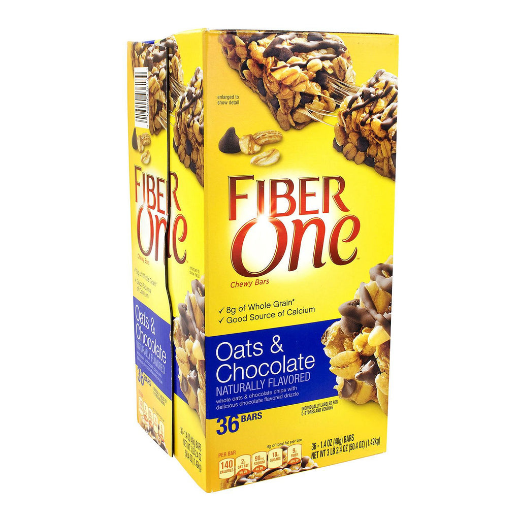 Fiber One Oats and Chocolate Chewy Bars 36 ct 1.4 oz each bar