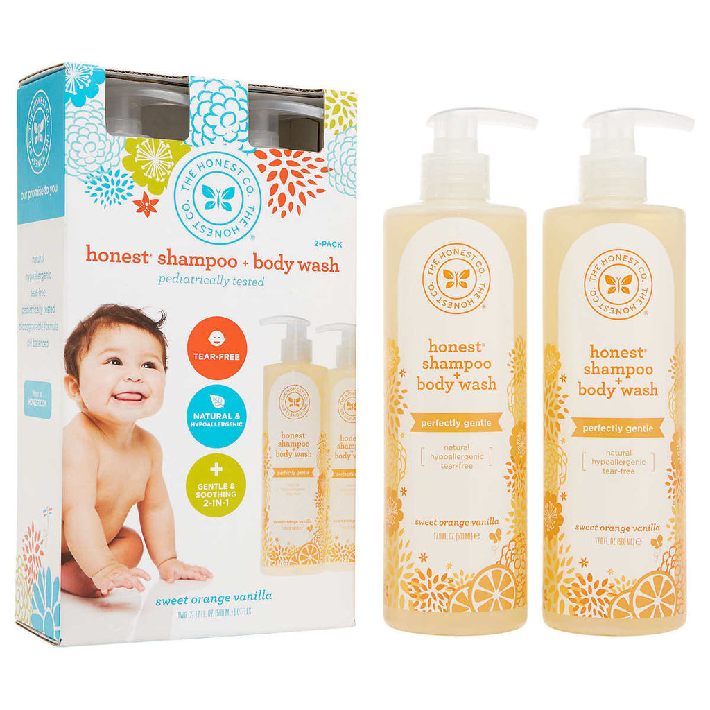 The Honest Company Shampoo and Body Wash Perfectly Gentle 17 oz - 2 pack
