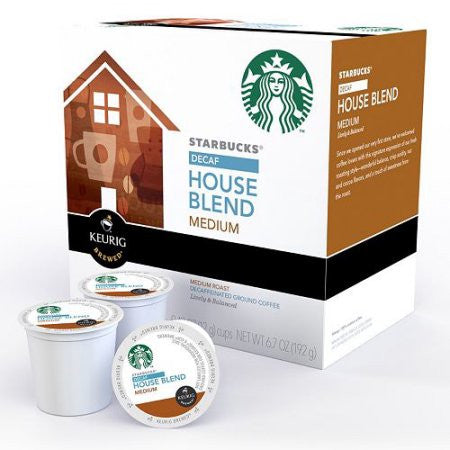 Starbucks Coffee K-cups Decaf House Blend, 10 CT (Pack of 6)
