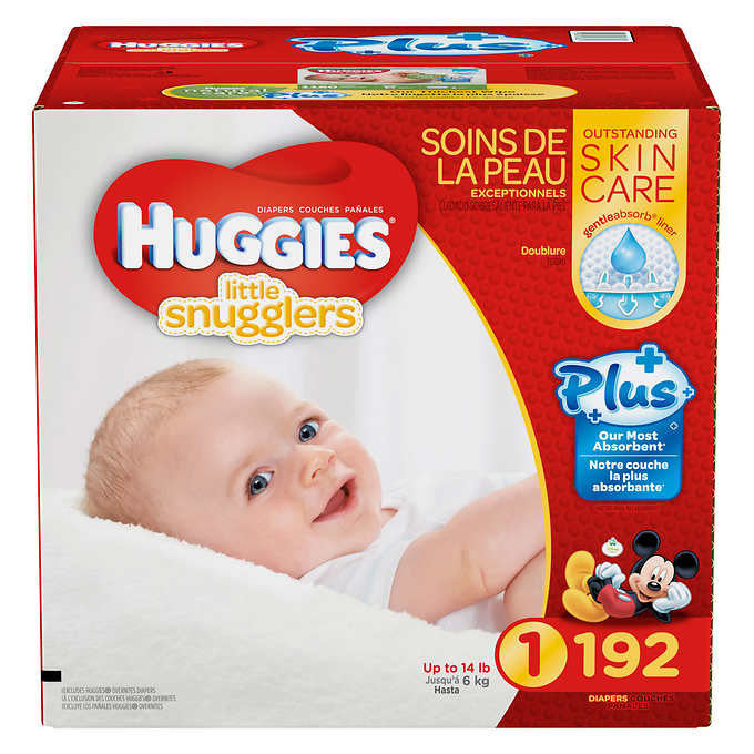 Huggies Little Snugglers Plus Diapers (Size 1 or 2)