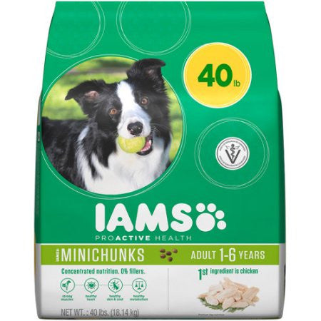 Iams ProActive Health Adult MiniChunks Premium Dog Food, 40 lbs