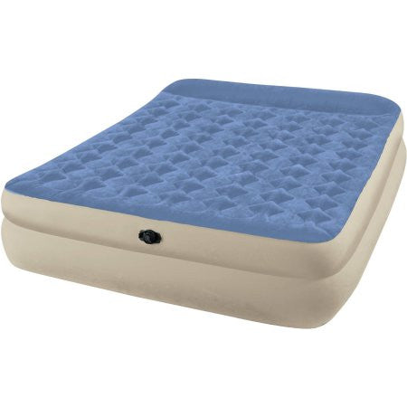 "Intex Queen 18"" Raised Pillow Rest Airbed Mattress"