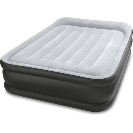 "Intex Full 16.5"" DuraBeam Deluxe Pillow Rest Airbed Mattress with Built-In Pump"