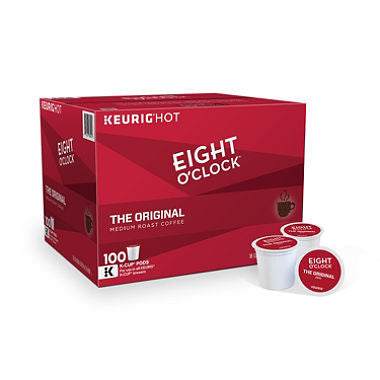 Eight O'Clock The Original Coffee K-Cup Pods, 100 ct