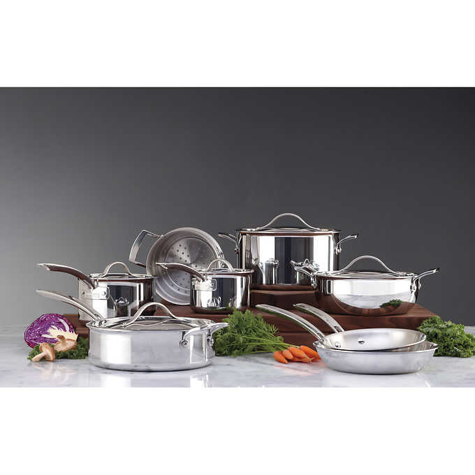 Kirkland Signature 13-piece Tri-Ply Clad Stainless Steel Induction Cookware Set