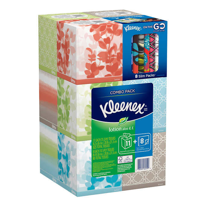 Kleenex® Lotion with 11/75 count Boxes plus 8 Bonus Pack Wallets