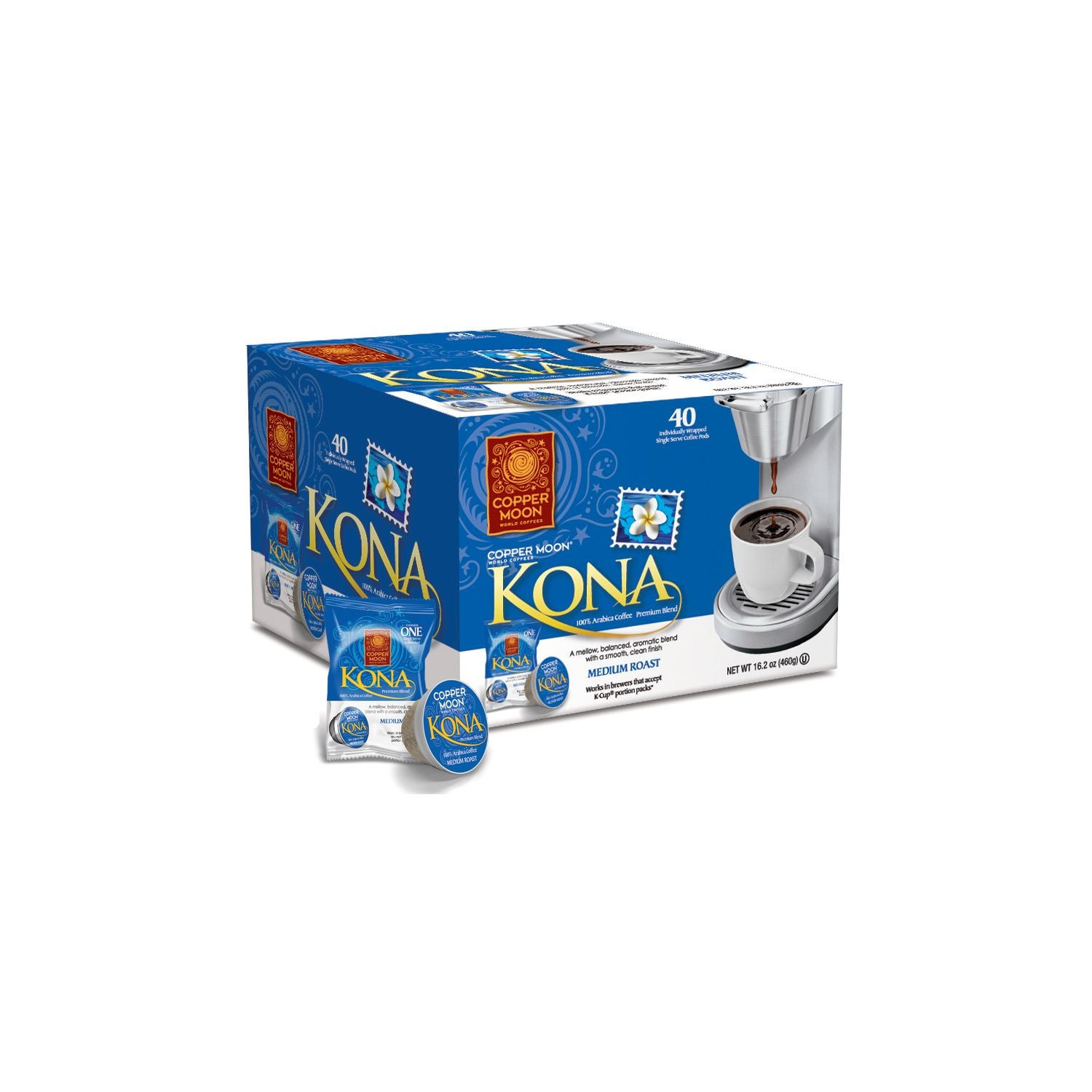 Copper Moon Kona Coffee, Single Serve (80 ct.)