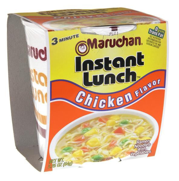 Maruchan® Instant Lunch™ Chicken Flavor Ramen Noodles 2.25 oz. (6, 12, or 18 ct)
