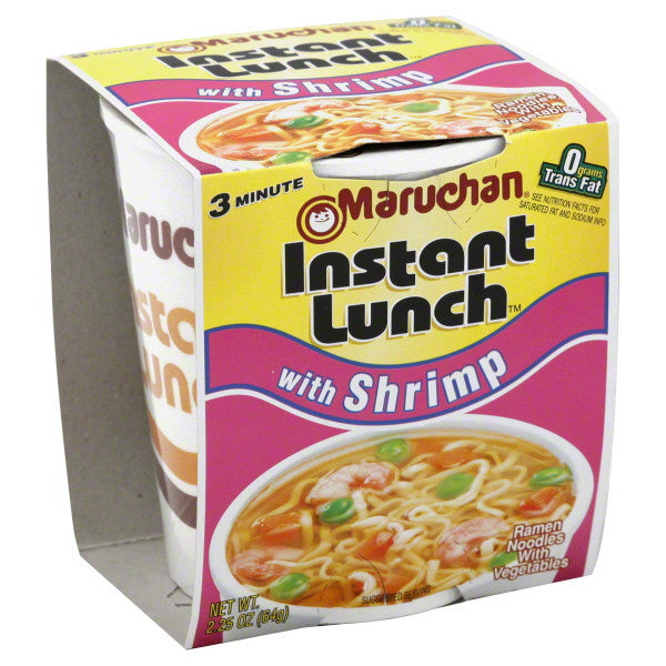 Maruchan® Instant Lunch™ with Shrimp Ramen Noodles 2.25 oz (6, 12 or 18 ct)