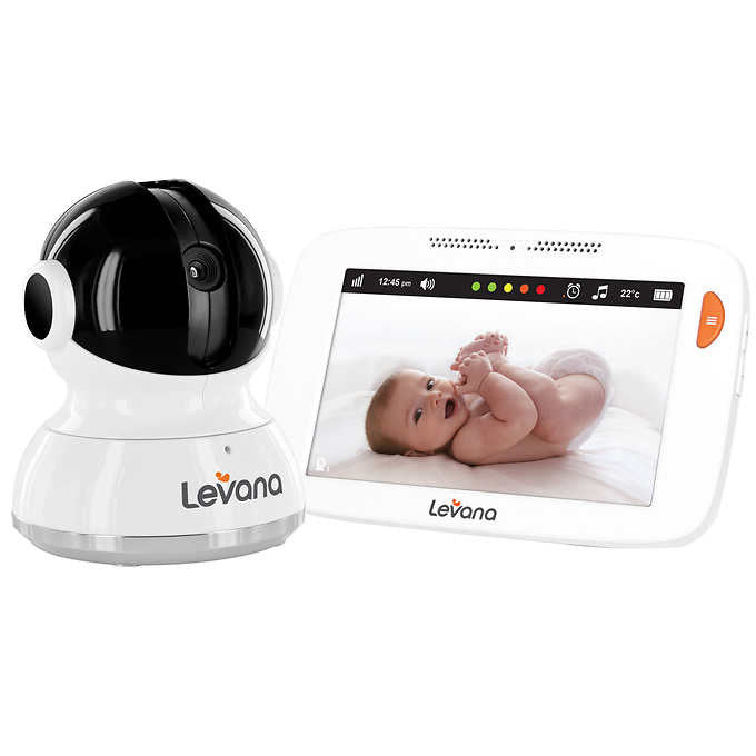 "LEVANA® Mylo™ 5"" Touchscreen High Resolution PTZ Video Baby Monitor"