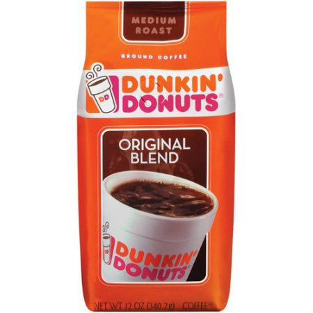 Dunkin' Donuts Original Blend Medium Roast Ground Coffee, 12 oz
