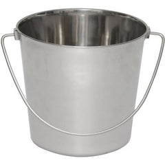 Iconic Pet Heavy Duty Stainless Steel Pet Pail Bucket, 13 Qt