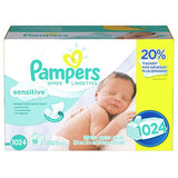 Pampers Sensitive Baby Wipes (800 or 1024 ct)