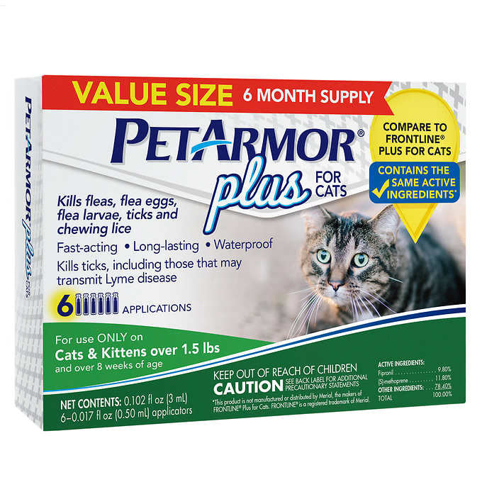 PetArmor Plus For Cats 3 Month Application 2-count, 6 Month Total