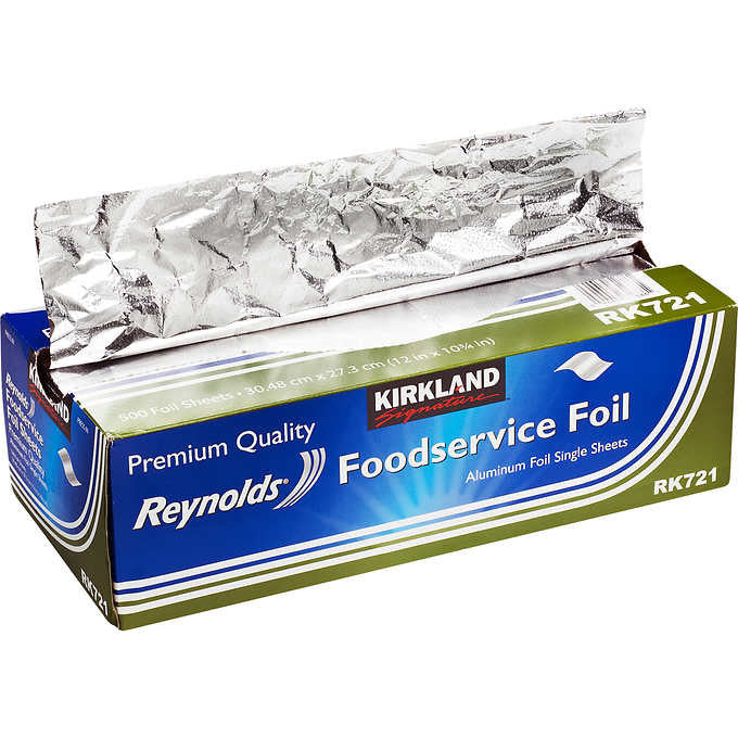 Kirkland Signature Reynolds Foodservice Foil Sheets 500 Count 2-pack