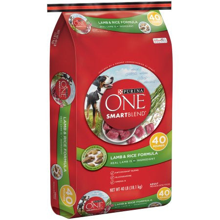 Purina ONE SmartBlend Lamb & Rice Formula Adult Premium Dog Food 40 lb. Bag