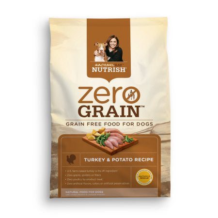 Rachael Ray Nutrish Zero Grain Natural Dry Dog Food, Turkey & Potato Recipe, 28 lbs