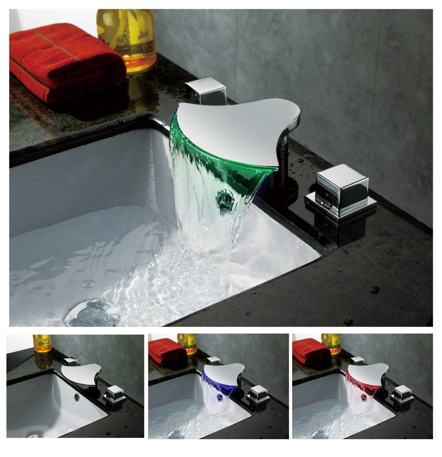 LED Waterfall Sink Faucet A019