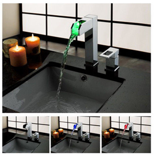 LED Waterfall Basin Faucet A022