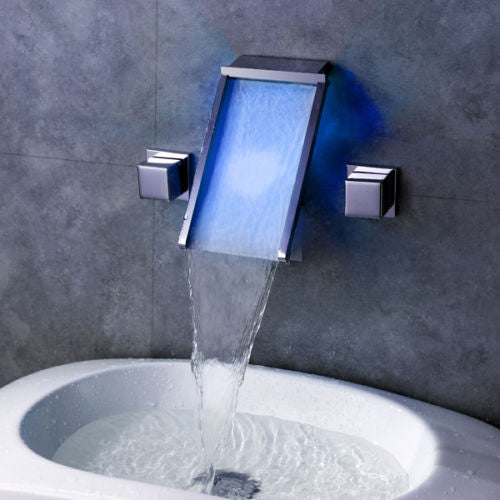 LED Waterfall Basin Faucet A012