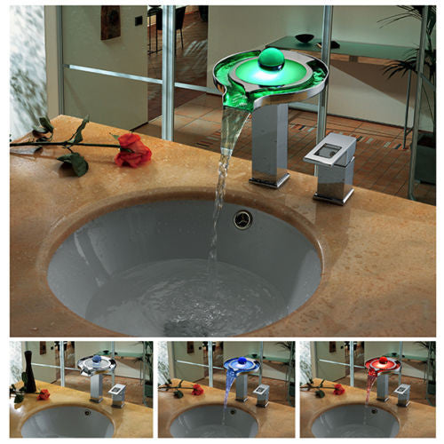 LED Waterfall Basin Faucet A021
