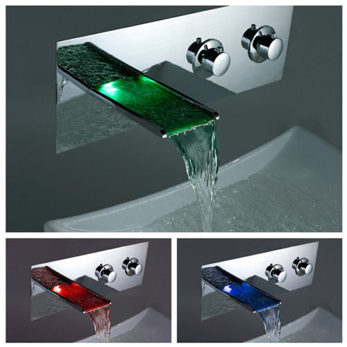 LED Waterfall Basin Faucet A003