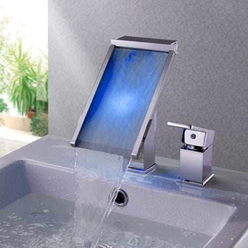 LED Waterfall Basin Faucet A020