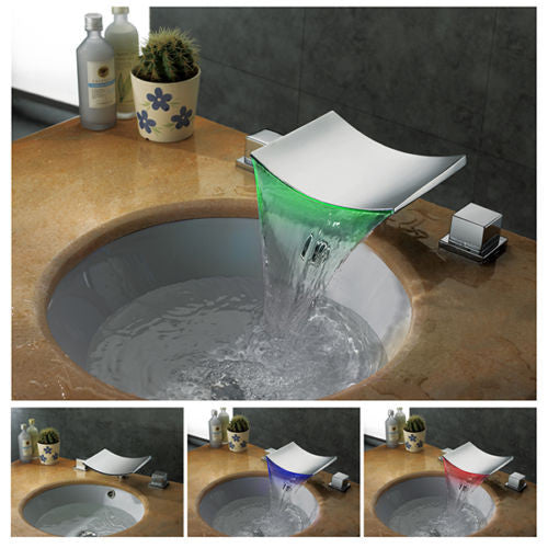 Waterfall LED Basin Faucet A018