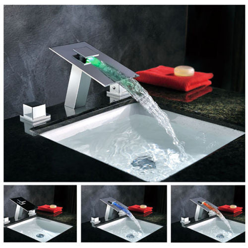 LED Basin Faucet Waterfall A015