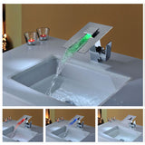 LED Waterfall Sink Faucet A024