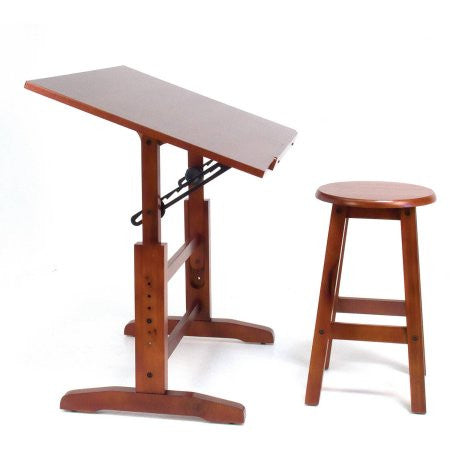 Studio Designs Creative Table and Stool Set, Walnut