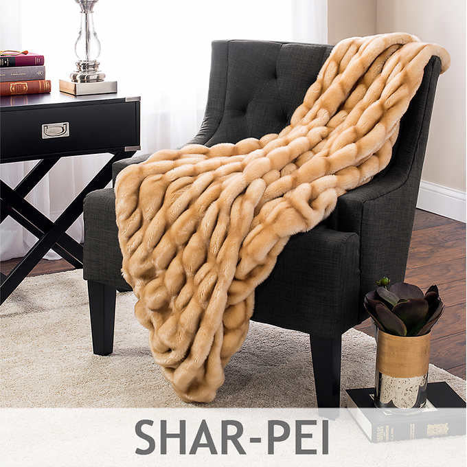 Baltic Linens Faux Fur Throw Blanket Available in Assorted Patterns