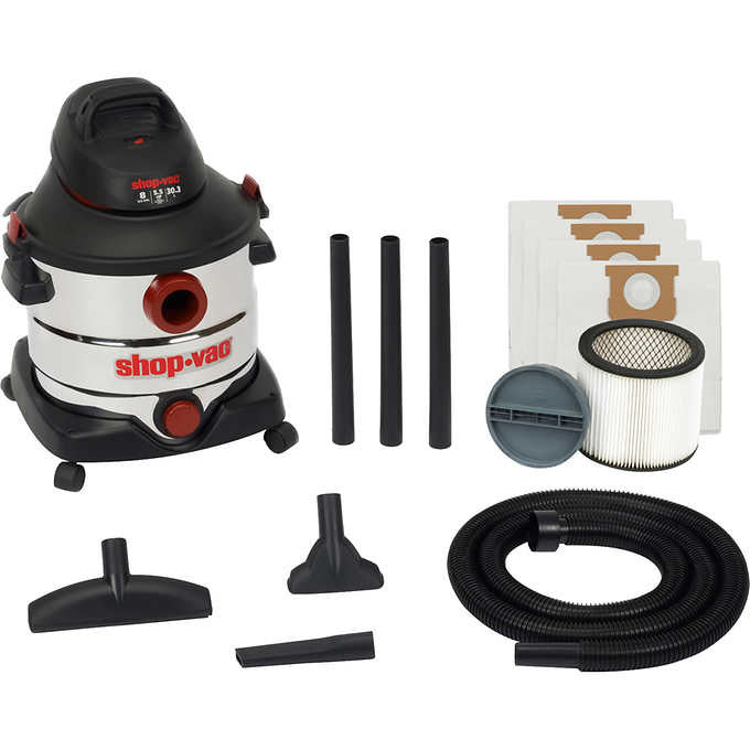 Shop-Vac 8 Gallon / 5.5 Peak HP Stainless Steel Wet or Dry Vacuum
