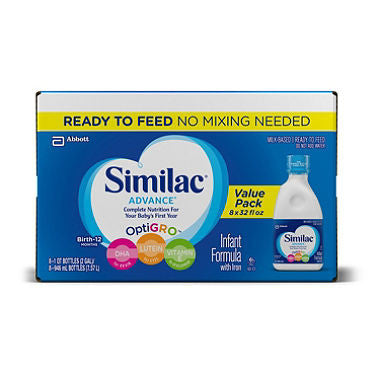 Similac Advance Ready to Feed Infant Formula (32 oz., 8 pk.)