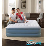 Simmons Beautyrest Lumbar Lux Queen Raised Air Bed Mattress with Built-In Pump