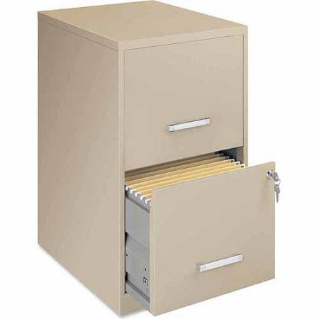 "Lorell SOHO 18"" 2-Drawer File Cabinet, Putty"