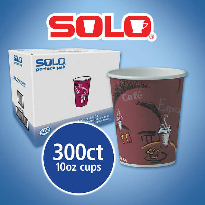 Solo Hot Drink Cups Bistro Design 10oz 300ct