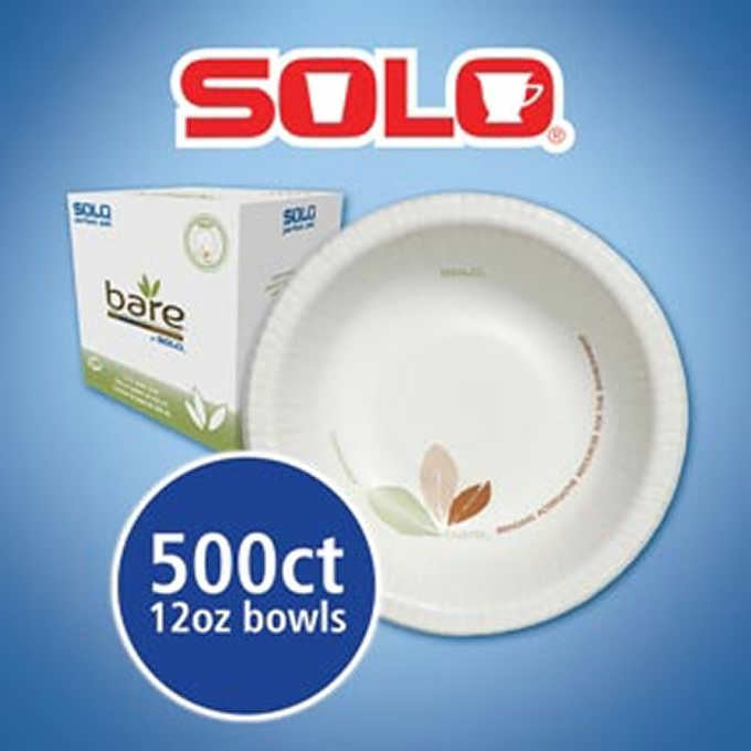 Solo Bare Paper Dinnerware Bowl 12oz 500ct