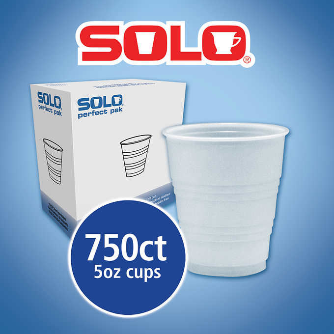 Solo Galaxy Cold Drink Cups 5oz Translucent 750ct