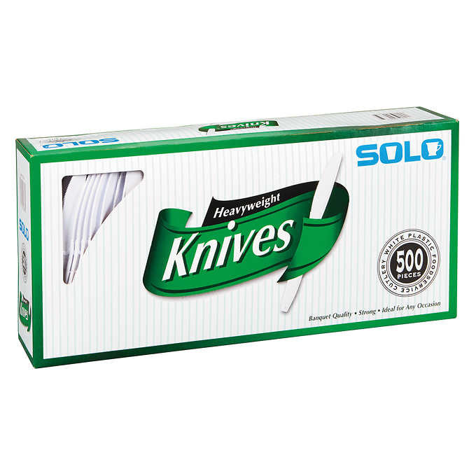 Solo Plastic Knife White 500ct