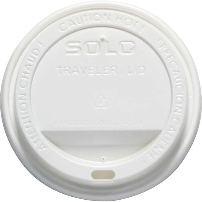 Solo Traveler Drink-Thru Lids 12-24oz White 300ct