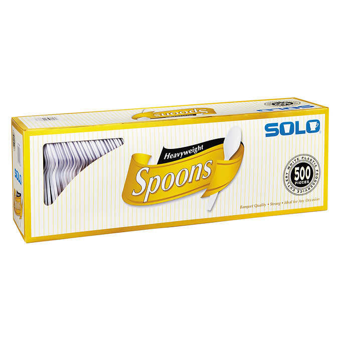 Solo Plastic Spoon White 500ct