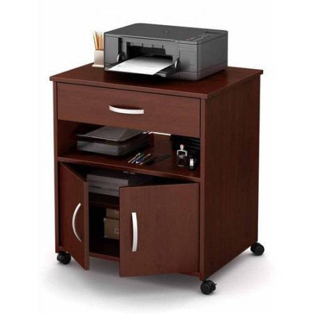 South Shore Smart Basics Printer Cart on Wheels, Multiple Finishes
