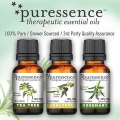 puressence Therapeutic Essential Oil Wellness Kit (Tea tree, Eucalpytus and Rosemary)