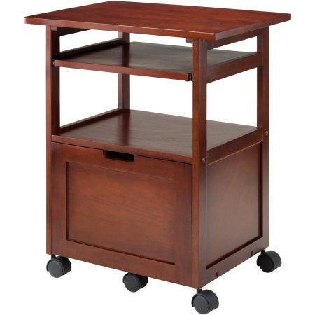 Winsome Piper Work Station, Walnut