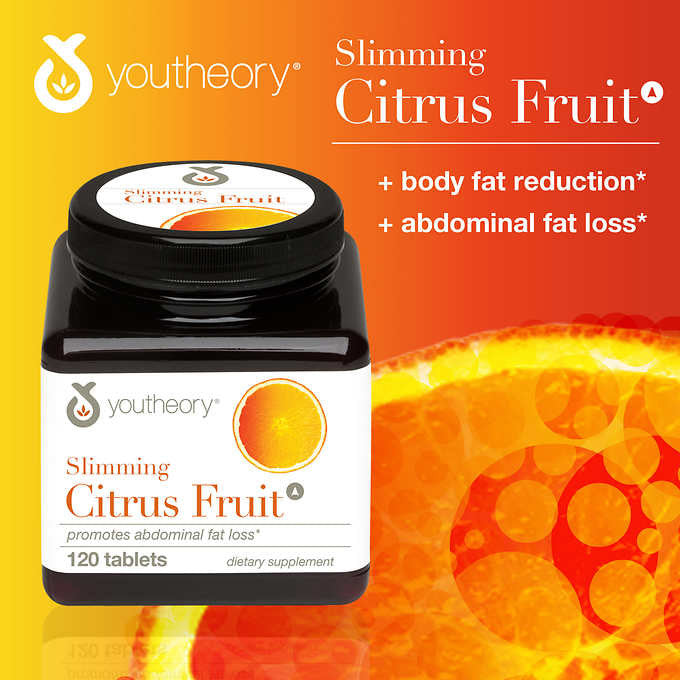 youtheory Slimming Citrus Fruit, 120 Tablets