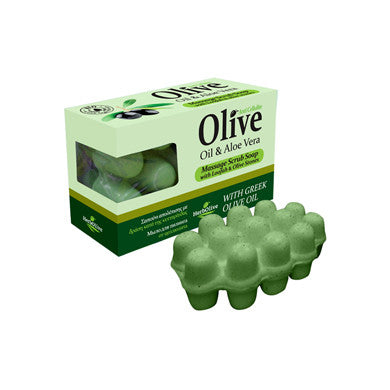 HerbOlive Massage Soap with Olive Oil & Aloe Vera with Loofah & Olive Stones 100gr / 3.52oz, Soaps, OnlyMySkin.com - OnlyMySkin.com