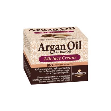 Argan Oil & Olive Oil Face Cream 24HR Normal-Dry Skin 50ml/1.69oz, Face Cream, OnlyMySkin.com - OnlyMySkin.com