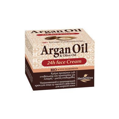 Argan Oil & Olive Oil Face Cream 24HR Oily-Combination Skin 50ml / 1.69oz, Face Cream, OnlyMySkin.com - OnlyMySkin.com