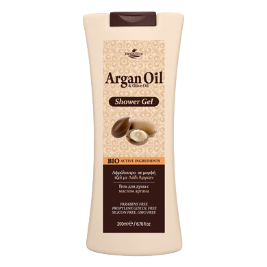 Argan Oil & Olive Oil Body Shower Gel 200ml / 6.76oz, Shower Gel, OnlyMySkin.com - OnlyMySkin.com